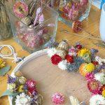 Atelier de broderie fleurie